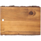 Tablecraft ACAR1208 Acacia Wood Rectangular Serving Board - 12