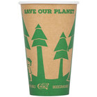 EcoChoice 16 oz. Kraft Compostable and Biodegradable Paper Hot Cup with Tree Design - 1000/Case