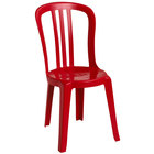 Grosfillex Miami Bistro Red Stacking Outdoor Resin Sidechair
