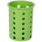 Steril-Sil RP-25-GREEN Green Plastic Straight Sided Flexible Silverware Cylinder
