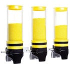 Cal-Mil 3525-3-42 Yellow 3 Cylinder Topping Click Dispenser -15 3/4