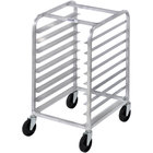 Channel 428S 9 Pan Stainless Steel Side Load Half Height Sheet / Bun Pan Rack - Assembled