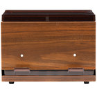 Vollrath 3845-12 Straw Boss Double Sided Bulk Straw Dispenser - Dark Walnut Woodgrain