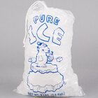 8 lb. Clear Plastic Drawstring Ice Bag with Polar Bear Graphic - 500/Case