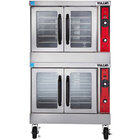 Vulcan VC44GD-NAT Natural Gas Double Deck Full Size Gas Convection Oven with Solid State Controls - 100,000 BTU