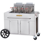 Crown Verity PF-2 70 - 80 lb. Double Tank Portable Outdoor Fryer