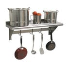 Advance Tabco PS-18-108 Stainless Steel Wall Shelf with Pot Rack - 18