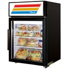 True GDM-5-LD Black Countertop Display Refrigerator with Swing Door - 5 cu. ft.