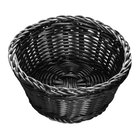 Tablecraft M2477 Black Round Rattan Basket 7