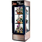 True G4SM-23FC-LD Bronze Four Sided Glass Door Floral Case with Front Sign - 23 Cu. Ft.