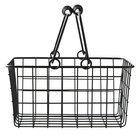 American Metalcraft RBHB975 Black Tabletop Market Basket - 9