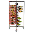 Plate Mate PM48-155 Collapsible / Folding Mobile Plate Rack Holds 48 Plates 50 5/8