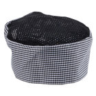 Chef Revival H009-R Houndstooth Poly-Cotton Blend Pill Box Chef Hat