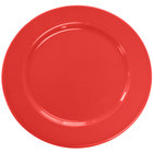 CAC CDE-16RED Festiware Wide Rim Plate with Cord Edge 10 5/8