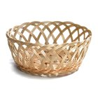 Tablecraft 1135W Natural Open Weave Round Rattan Basket 9