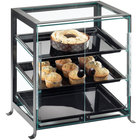 Cal-Mil 1574-S-13 Soho Three Tier Display Case with Front Doors - 17 1/4