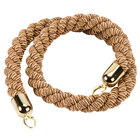American Metalcraft RSCLRPGOBR 5' Braided Bronze Barrier System Rope with Gold Ends