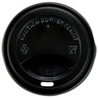 Choice 8 oz. Black Hot Paper Cup Travel Lid - 100 / Pack