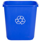 28 Qt. Blue Recycling Wastebasket