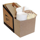 LBP 7139 Coffee Take Out Container Service Caddy for 96 oz. Take Out Containers 100/Case
