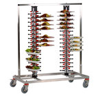 Plate Mate PM120-170 Twin Mobile Plate Rack Holds 120 Plates 57 1/2