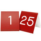 Cal-Mil 269A-1 Red Engraved Number Tent Sign Set 1-25 - 3