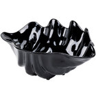 5 Qt. Black Shell Shaped Plastic Bowl 19