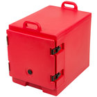 Cambro 300MPC158 Camcarrier Hot Red Front Loading Insulated Food Pan Carrier with Handles