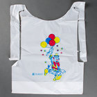 Royal Paper CPB10 Child's Poly Bib with Clown 500 / Box