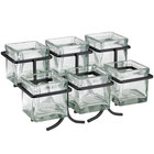 Cal-Mil 1809-13 Iron Two Tier Six Jar Black Wire Display - 14