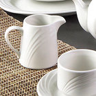 CAC GAD-PC Garden State 6 oz. Bone White Porcelain Creamer - 48 / Case
