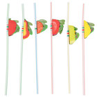 Royal Paper RS950F Assorted Paper Fruit Straws - 144 / Box