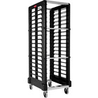 Rubbermaid 3320 18 Pan End Load Max System Black Bun / Sheet Pan Rack -Unassembled (FG332000BLA)