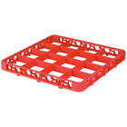 Carlisle RE16C24 OptiClean 16 Compartment Orange Color-Coded Glass Rack Extender