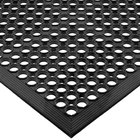 San Jamar KM1100 EZ-Mat 3' x 5' Black Grease-Resistant Floor Mat with Beveled Edge - 1/2