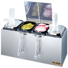 San Jamar P9722 EZ Chill Self Service Condiment Server with 2 Pumps and 2 Jars