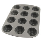 Non-Stick 12 Mold Fluted Muffin Pan 2 1/2