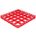 Carlisle RE25C05 OptiClean 25 Compartment Red Color-Coded Glass Rack Extender