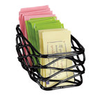 American Metalcraft BNSB3 Black Birdnest Sugar Packet Basket - 5