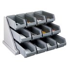 Cambro 12RS12480 Versa Speckled Gray Self Serve 3-Tier Condiment Stand with 12