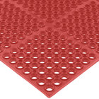 San Jamar KM2200B Tuf-Mat 3' x 5' Red Grease-Proof Bagged Floor Mat - 3/4