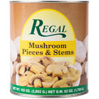 Regal Foods Mushroom Pieces & Stems - #10 Can - 6 / Case