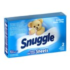 2 Count Snuggle Blue Sparkle Dryer Sheet Fabric Softener Box for Coin Vending Machine 100 / Case