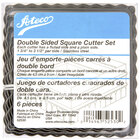 Ateco 52530 6-Piece Stainless Two-Sided Square Cutter Set (August Thomsen)