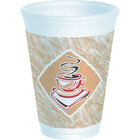 Dart Solo 12X12G 12 oz. Espresso Customizable Foam Cup 1000 / Case