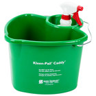 San Jamar KP500 Kleen-Pail Cleaning Caddy with Pail and Spray Bottle