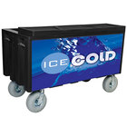Black Extra Large Super Arctic 080 Mobile 456 Qt. Cooler with Wheels