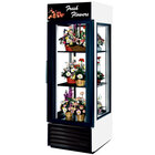 True G4SM-23FC-LD White Four Sided Glass Door Floral Case with Front Sign - 23 Cu. Ft.