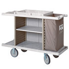 Metro LXHK4-ESS Lodgix Essentials Housekeeping Cart- Tall Height with 2 Adjustable Center Shelves