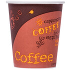 Choice 10 oz. Poly Paper Hot Cup with Coffee Design - 1000 / Case